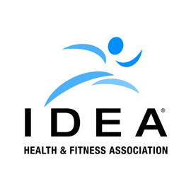 Logo of IDEA Health and Fitness Association.