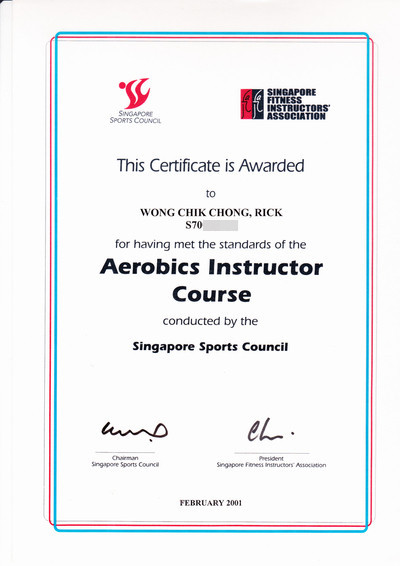 Fitness Instructor Certificate Instructor Certificate