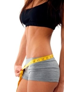 Image of a woman's lean and toned torso.