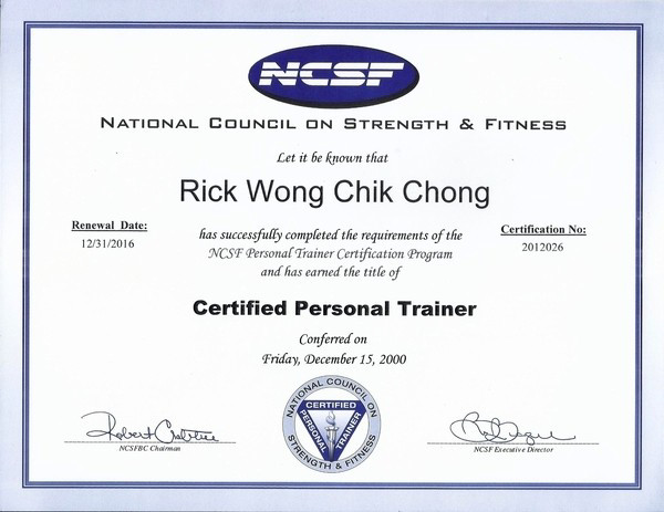 Deals on personal training certification